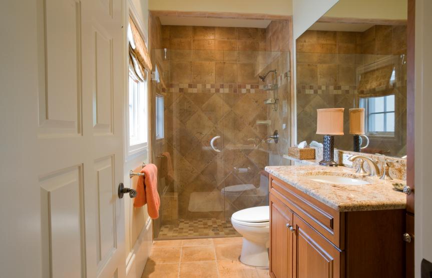 Bathroom Granite Shower Wall