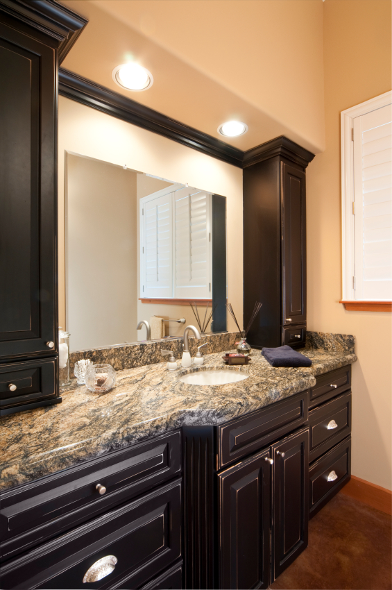 Netuno Bordeaux Granite Bathroom Countertops