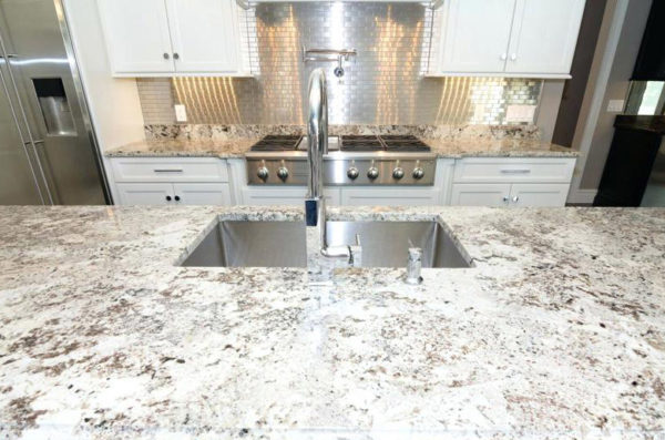 Dallas white granite countertop kitchen