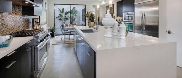 Fossil Taupe Kitchen Quartz Countertop | Granite Top, Inc.