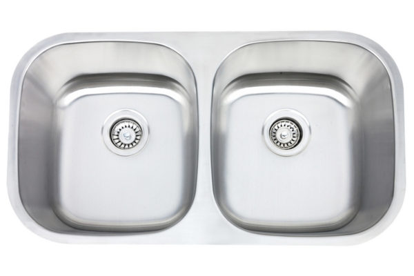 Monarch stainless steel double bowl sink