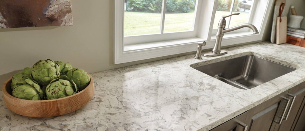 Romano White Quartz | Seattle Granite Top, Inc.